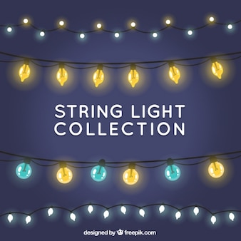 Collection of decorative string lights