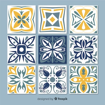 Collection of decorative tiles