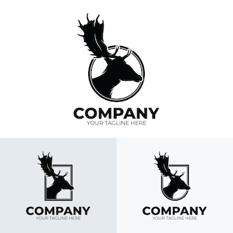 Collection of deer hunting club logo design