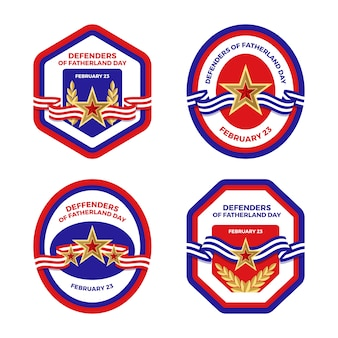 Collection of defender of the fatherland day label