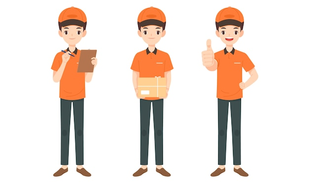 Collection of delivery man character