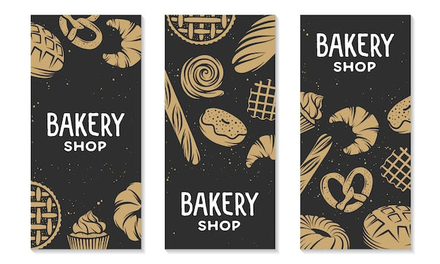 Collection of design vertical banner template.
