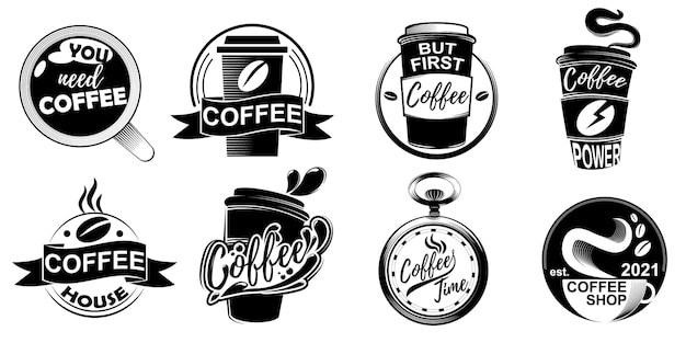 Collection of designs for a coffee shop