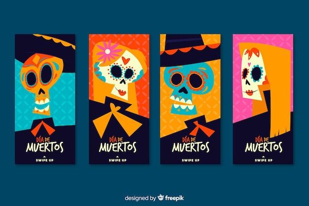 Collection of dia de muertos instagram stories