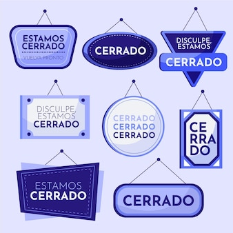 Collection of different cerrado signboards