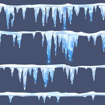 Raccolta di diversi ghiaccioli freddi