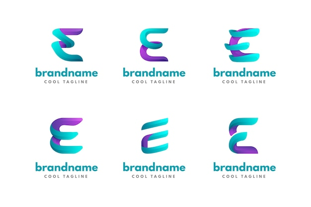 Collection of different e logos