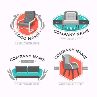 Collection of different furniture logos