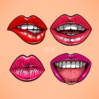 Collection of different lips
