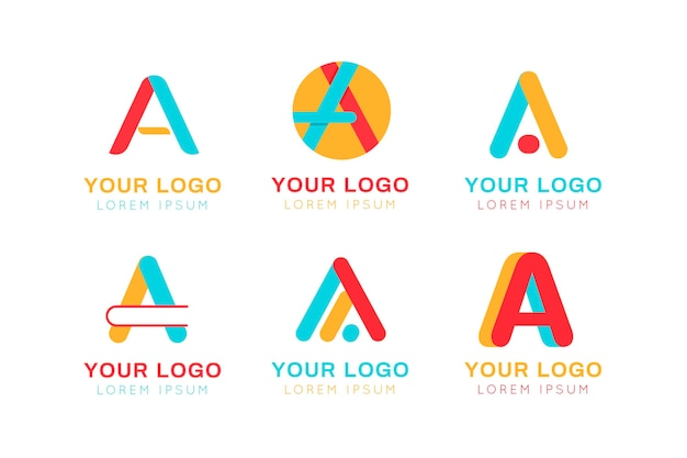 Collection of different a logos