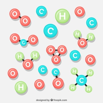 Collection of different molecules