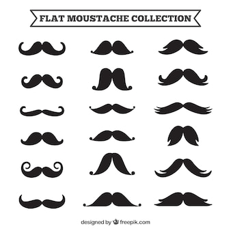 Collection of different mustaches designs