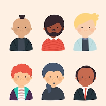 Collection of different people avatars