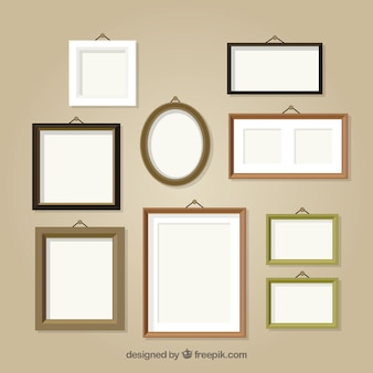 Collection of different photo frames