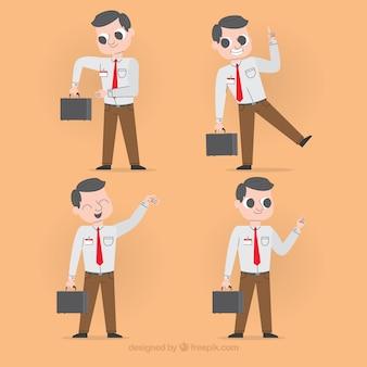 Raccolta di diversi personaggi di venditori