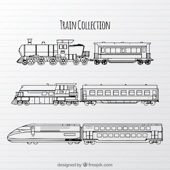 Raccolta di diversi tipi di treni