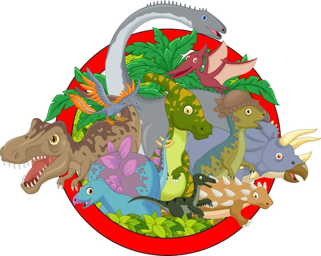Collection dinosaur character