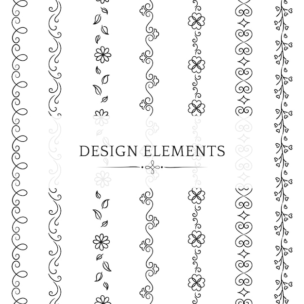 Collection of divider design element