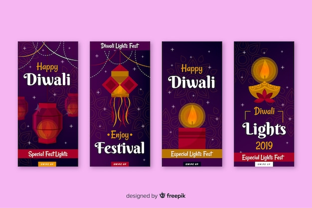 Collection of diwali instagram stories