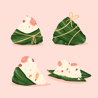 Collection of dragon boat's zongzi