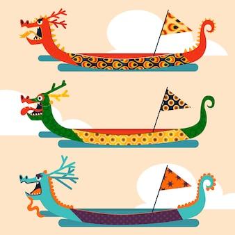 Collezione di barche drago