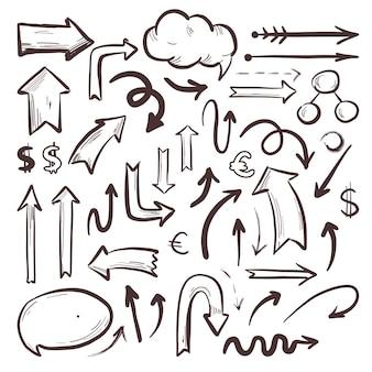 Raccolta di elementi di infografica scuola disegnata
