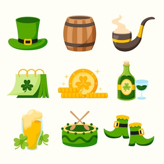 Collection of drawn st. patrick's day elements
