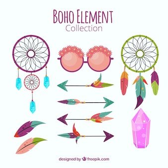 Collection of dream catchers and boho element