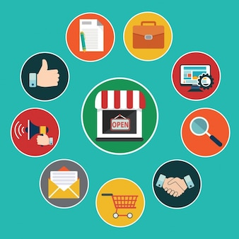 Collection, e-commerce Free Vector