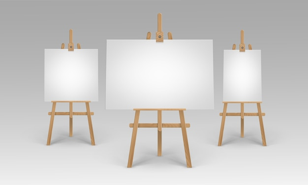 Collection of easel stands