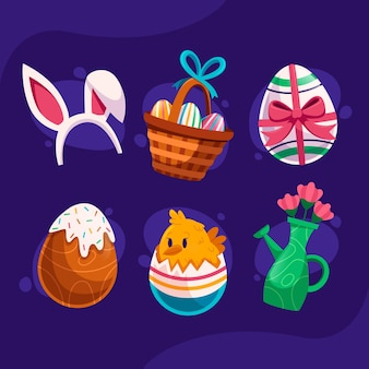 Collection of easter elements