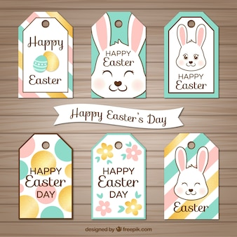 Collection of easter labels