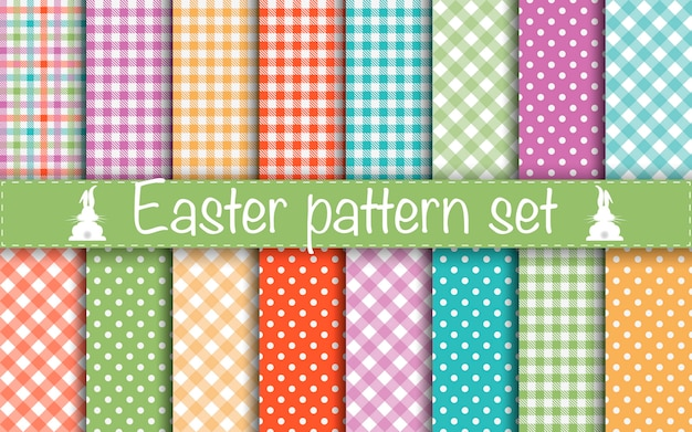 Collection easter pattern for scrapbook and wrapping paper.