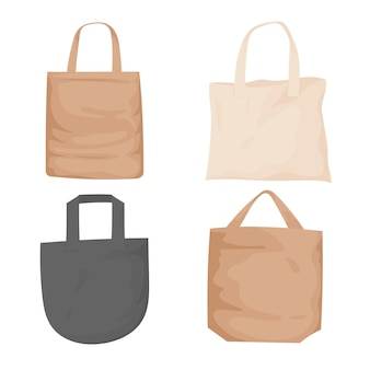Collection of eco friendly fabric bags