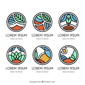 Collection of ecological logos