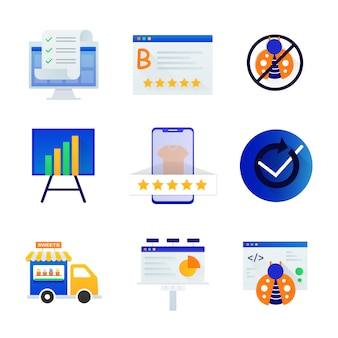 Collection of ecommerce icons