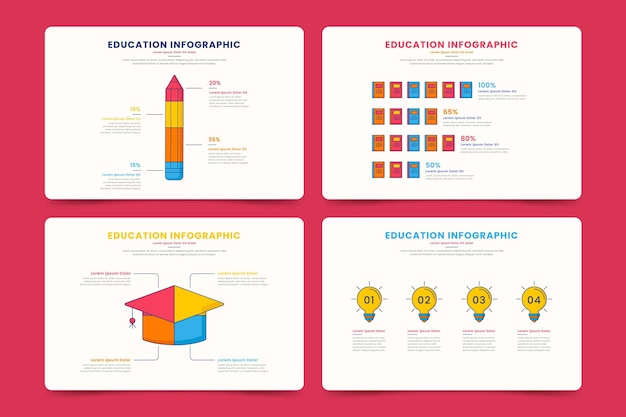 Collection of education infographics