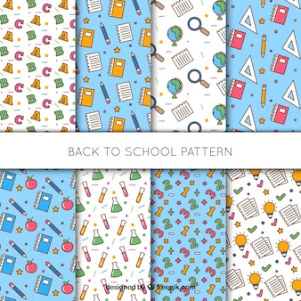 Collection of eight back to school patterns