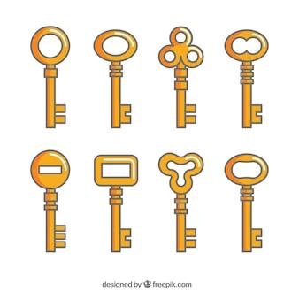 Collezione di otto chiavi