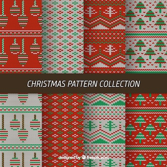 Collection of eight knitted christmas patterns