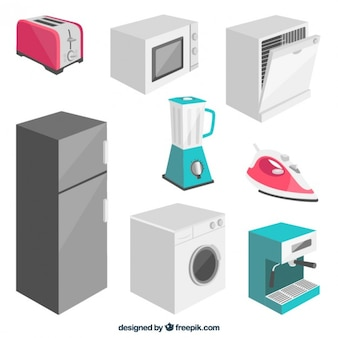 Collection of electrical appliance in 3d