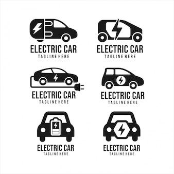 Collection electrik car logos