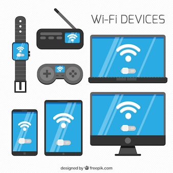 Collection of electronic devices with wifi signal