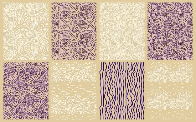 Collection of elegant round lines patterns