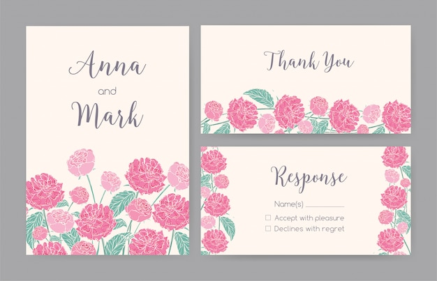 Collection of elegant templates for save the date card