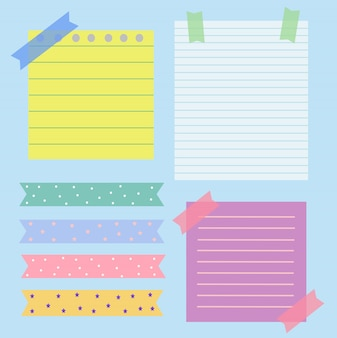 Collection of element paper note