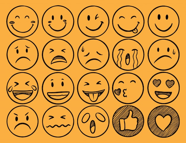 Collection of emoji