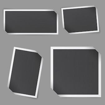 Collection of empty photo frames