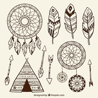 Collection of ethnic drawings