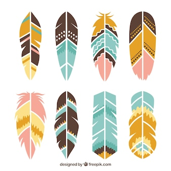 Collection of ethnic feathers